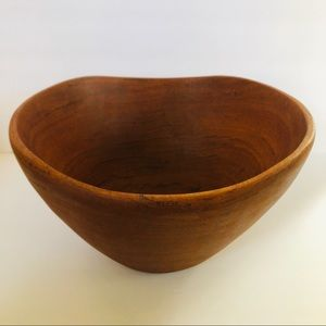 Vintage Teak Wood Bowl Large